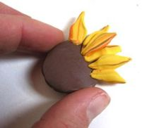sunflower tutorial  ~ Polymer Clay Flowers