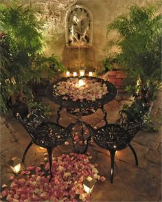 Candlelit Rose Petal Proposal or Special Occasion from Hotel St.