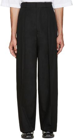 890€ Vetements - Pantalon de costume surdimensionné noir