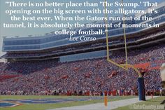 The Swamp....and correct t me if I'm wrong but isn't Lee Corso a Seminole?