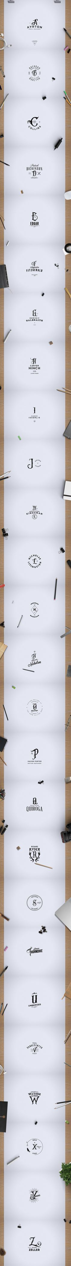 FREE MONOGRAM. ABC VINTAGE LOGOS on Behance