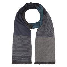 Multicoloured Merino Wool Scarf