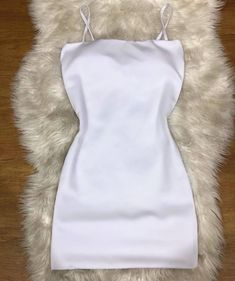 Teen Fashion Outfits, Club Outfits, Classy Outfits, Outfits For Teens, Trendy Outfits, Girl Outfits, Summer Outfits, White Satin Dress, Satin Dresses