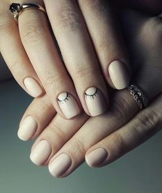 70 Simple Nail Design Ideas That Are Actually Easy Trendy Nail Art, Stylish Nails, Fabulous Nails, Perfect Nails, Hot Nails, Hair And Nails, Manicure E Pedicure, Artificial Nails, Nail Decorations