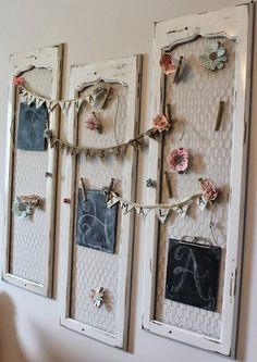 cabinet doors with chicken wire used for many different things