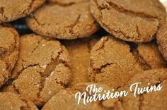 Skinny Gingersnaps | Only 88 Calories | Guilt-free Comfort Food | Perfectly Sweet | For MORE RECIPES please SIGN UP for our FREE NEWSLETTER www.NutritionTwins.com