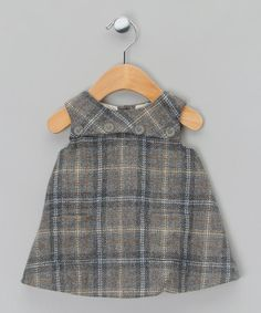 Grey Plaid Dress - Infant by Marie Chantal Baby on #zulilyUK today!