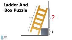 Ladder And Box Puzzle Mental Math Tricks, Unbox Therapy, Maths Puzzles, Game Theory, Mind You, Made Video, Mathematics, Animals Beautiful, Ladder