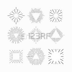 Hand drawn sunburst, vintage radial burst, abstract line sunshine vector collection Abstract Lines, Abstract Photos, Thumb Tattoos, Fireworks Design, Minimal Logo, Find Art, Design Elements, Vector Art, Ink