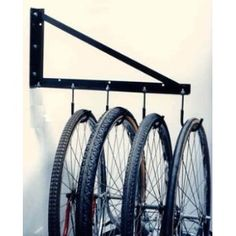 An innovative and inexpensive solution to maximizes your garage storage space. Made of high-quality materials, very sturdy and can easily holds the weight of a bicycle, yard equipment, tools or any other items that is stored in a garage. Garage Velo, Garage Shed, Garage House, Garage Closet, Garage Plans, Car Garage, Garage Art, Garage Doors, Garage Organisation