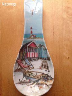 SPOON TIDY REST~MACNEIL SANDY BAY BEACH HOLIDAY SCENE~MELAMINE~FREE POST UK