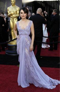 Mila Kunis wearing Ellie Saab