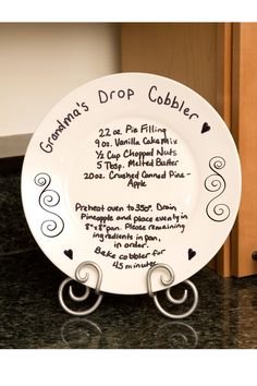 Friendship plate ideas on pinterest pottery painting friendship quotes and plates - Decoratie recup ...