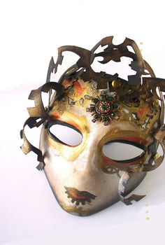 Venetian Costume Steampunk Mask - Dark Medusa. $189.99, via Etsy.