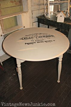 DIY French Kitchen Table with image from the Graphics Fairy. Trust me the Graphics Fairy ROCKS!