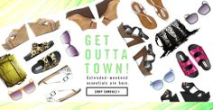 Extended weekand essentials - Save up to 50% on clearance items at #SteveMadden