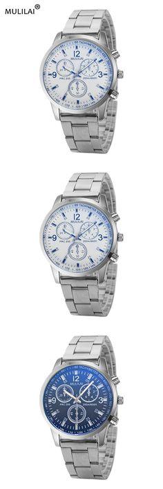 mulilai Quartz Watch Men's Top Brand Luxury Famous 2017 Wristwatch Male Clock Wrist Watch Business Quartz Student Alloy watch