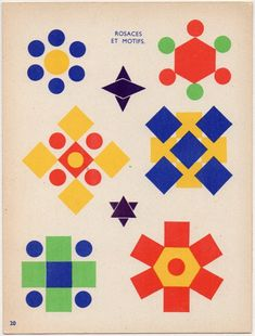 love this old book of geometric designs: some inspiration for shapes play