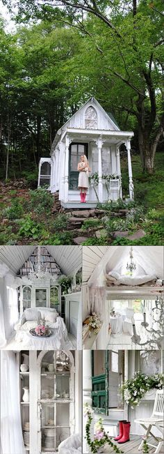 Potter's Paradise - Top 80 Gorgeously Comfortable She Sheds and Backyard Tiny Houses Outdoor Rooms, Outdoor Living, Greenhouse Plans, Outdoor Greenhouse, Cheap Greenhouse, Window Greenhouse, Aquaponics Greenhouse, Backyard Sheds, Garden Sheds