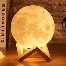 Amazon Com Iconntechs Moon Lamp 3d Dimmable Moon Light 16 Rgb Colors Usb Rechargeable Remote In 2020 Moon Light Lamp Night Lamps Lamp