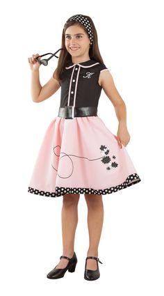 f0094abbc Disfraz de chica Pink Lady de los 50 para niña