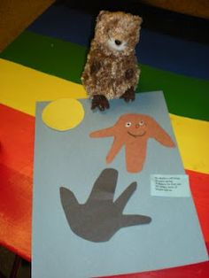 Preschool groundhogs mardi gras on pinterest for Groundhog day crafts for preschoolers