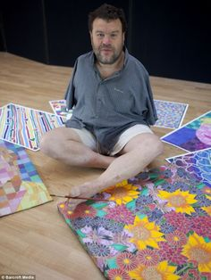 A man born without arms has become a world-renowned artist by painting with his mouth and feet.    Tom Yendell, 50, has produced more than 500 works from his garage studio, using his lips, tongue, teeth, head, and feet to master different brush strokes.    Mr Yendell was born with birth defects caused by Thalidomide, a morning sickness drug with devastating side-effects, but determined to lead a normal life, said he hopes his 'artwork proves that nothing is too big a hurdle in life'.
