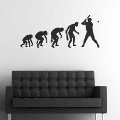 Adesivo evolução basebol é um autocolante bastante engraçado e criativo que pode utilizar para decorar qualquer divisão da sua habitação.