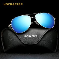 Hot Men's Brand Designer Polarized Sunglasses Men Integrated Eyewear TAC Coating blue Sun glasses oculos de sol Male Reloj UV400