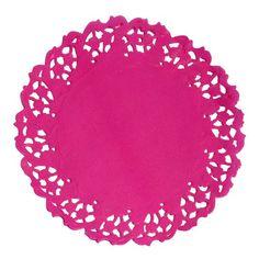 Papel Mais Artes - Scrapbook & Personalizados - Papel Rendado Pink- Doilies 11cm - c/10 unidades