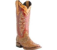 Ostrich boots Lucchese