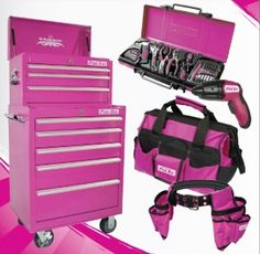 G It is PURPLE! -Heather I think this is pink! But either color it is, I would LOVE to have in addition tto my small tool collection I already have!A Collection A Collection may refer to: Pink Camo, Pink Purple, Hot Pink, Pink Love, Pretty In Pink, Pink Tool Box, Rangement Makeup, My Favorite Color, My Favorite Things