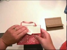 Youtube video for making paper bag purse gift bags
