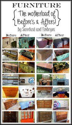 SO MANY creative furniture makeovers! {Sawdust and Embryos}