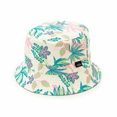 Mix up your style and choose between a vibrant tropical floral print or solid color with the reversible design of this bucket hat. Hats Tumblr, Streetwear Hats, Mens Bucket Hats, Dope Hats, Dress Hats, Snapback Hats, My Style, Floral, Kids Hats