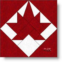 Maple Leaf quilt block As you probably already know, the symbol noted for Canada is the Maple Leaf. Barn Quilt Designs, Barn Quilt Patterns, Pattern Blocks, Quilting Designs, Stencil Patterns, Flag Quilt, Star Quilts, Quilt Blocks, Canadian Quilts