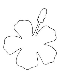 Hibiscus pattern. Use the printable outline for crafts, creating stencils, scrapbooking, and more. Free PDF template to download and print at http://patternuniverse.com/download/hibiscus-pattern/