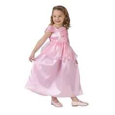Your little one has big dreams! Our Toddler Princess costume in Pink will help them come true! She'll be a vision in pink, featuring a sweet, satiny dress in rosy pink, with cap sleeves, and a ruched