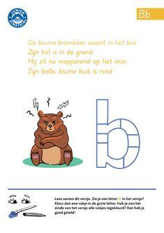 Wil jij oefenen met het herkennen van de letter B? Dat kan door dit werkblad te maken. Iedere keer dat je de letter B telt, kleur je een vakje in de grote letter B. Tel je evenveel letters B als dat je vakjes kleurt? Dan heb je het goed gedaan. Door met letters te oefenen, word je beter in het herkennen van letters.