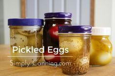 This pickled eggs recipe is for refrigerator pickled product. Do not store these on the shelf.  Pickled eggs are peeled, hard-boiled eggs in a pickling brine.  http://www.simplycanning.com/pickled-eggs-recipe.html