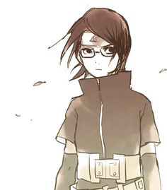 Uchiha Sarada She looks like a female Sasuke with glasses.