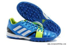 Blue White Electricity adidas Nitrocharge 3.0 TRX TF Football Boots Adidas  Soccer Shoes f418432009a4b