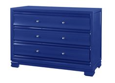 Paramount X-Large 3 Drawer Dresser in Blue Lacquer