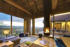 Ferienhaus Steiermark mit Pool und Sauna Cozy Cabin, Travel Tours, Summer Travel, Holiday Destinations, Bungalow, My House, Patio, Vacation, Architecture