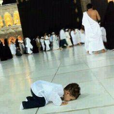 Child Praying to Allah.