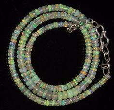 Amazing Quality Natural Ethiopian Opal Roundel Loose Beads 25 Pieces Mix Size Size Welo Fire Opal Loose Beads Opal gemstone