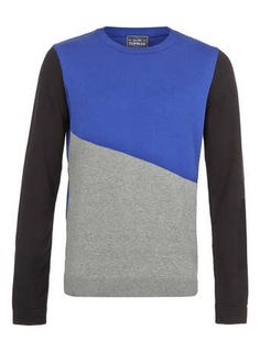 Blue And Black Angle Sweater
