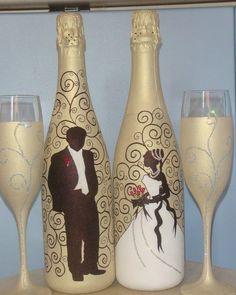 """Шампанское. Свадебное.  Тут такая история - пришла заказчица с фотографией из интернета и говорит: """"Хочет невеста или точно такое , или оч..."""