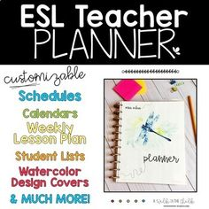 ESL Teachers, this planner is for YOU! Our job is unique and requires a variety of specific responsibilities. This planner was created to help keep all things ESL/ESOL/ENL organized year round! From lesson plan templates, student lists, a calendar and language goals, choose the pages that fit your s... English Language Learners, Language Arts, Weekly Lesson Plan Template, Reading Words, Student Information, School Levels, Vocabulary Cards, Teacher Planner, Writing Activities