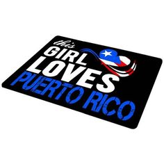 Hot Sale This Girl Loves Puerto Rico Anti-Slip Laptop Mouse Pad Mat Brand New